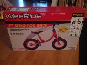 weeride balance bike box