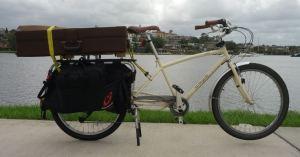 trombone on bike