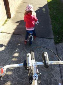 Riding balance bike