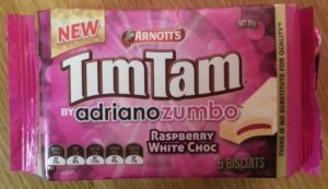 tim tam raspberry white choc biscuit