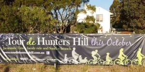 hunters hill cycling sign