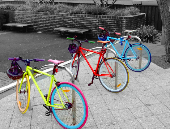 trendy coloured singlespeed bicycles
